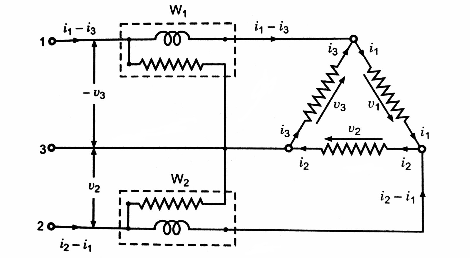 Two-wattmeter method of measuring 3-phase 3-wire power in Delta- connecetd system